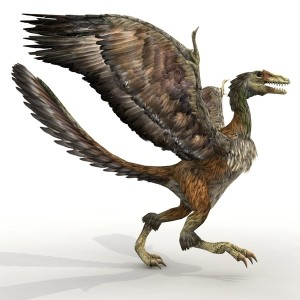 For those of you who DO Care this is an Archeopteryx.  Half bird, half dinosaur and 100% BAD-ASS!