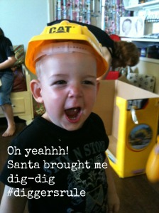 Max, aged 2,  at the height of dig-dig fever.